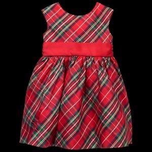 Girl Crimson Plaid Plaid Dress